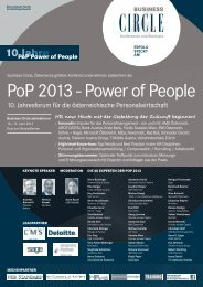 PoP 2013 - Power of People - Eblinger & Partner