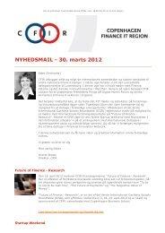 CFIR: Nyhedsmail - 30. marts 2012