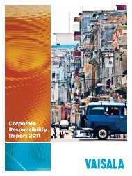 Vaisala Corporate Responsibility Report 2011