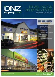 Mt wellington SHoPPing CentRe - DNZ Property Fund