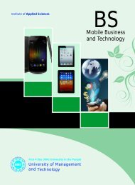 Mobile Business and Technology - UMT Admin Panel - University of ...