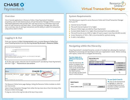 Virtual Transaction Manager - Chase Paymentech