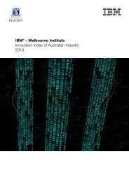 IBM® – Melbourne Institute Innovation Index of Australian Industry ...