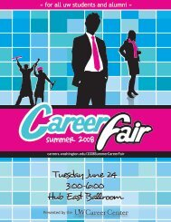Summer Career Fair 2008 - The Career Center of the University of ...