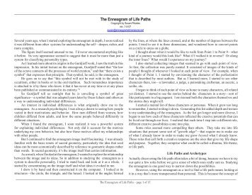 The Enneagram of Life Paths - Enneagram Dimensions