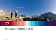 PACKAGES SOMMER 2009 - Sölden