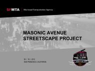 masonic avenue streetscape project - San Francisco Municipal ...