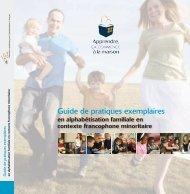 Guide de pratiques exemplaires en alphabétisation familiale en