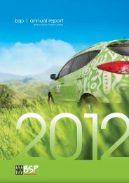 2012 Annual Report - Bank South Pacific