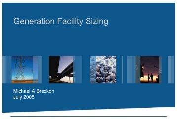 Generation Facility Sizing - Afghan