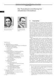 Die Transaktionsvereinbarung bei öffentlichen ... - Walder Wyss Ltd.