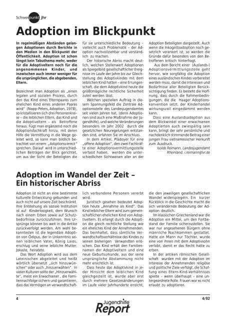 Adoption im Blickpunkt - Landschaftsverband Rheinland