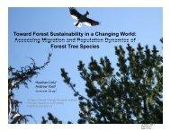 Species sustainability