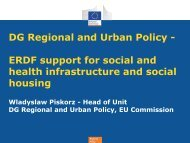 Regional Policy - CECODHAS Housing Europe