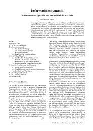 Informationsdynamik - Professorenforum