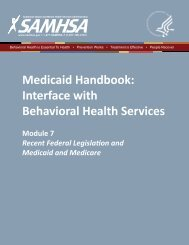Medicaid Handbook - SAMHSA Store - Substance Abuse and ...