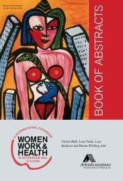 Women Work and Health. Book of Abstracst