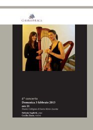 6° concerto Domenica 3 febbraio 2013 ore 21 - Chivasso in Musica