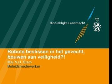 Robots beslissen in het gevecht, bouwen aan veiligheid?!
