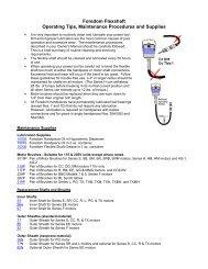 Foredom Flexshaft Operating Tips, Maintenance ... - FDJ On Time