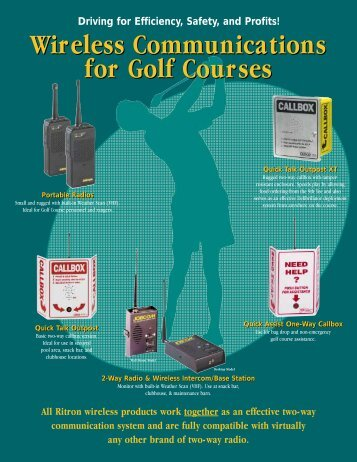 Wireless Communications for Golf Courses Wireless ... - Ritron