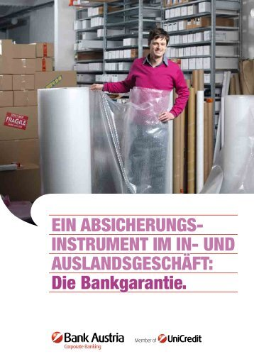 Die Bankgarantie. - Bank Austria
