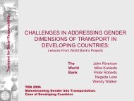 Challenges in Addressing the Gender Dimensions of ... - World Bank