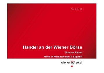 Handel an der Wiener Börse
