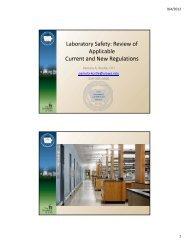 Laboratory Safety - State Hygienic Laboratory
