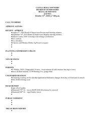October 12th 2010 meeting agenda.pdf - Castle Rock Township