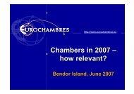 European Chambers in 2007 - Eurochambres Academy