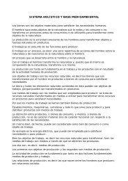 SISTEMA HOLÍSTICO Y BASE MEDIOAMBIENTAL - Wgov.org