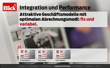 Integration und Performance - Go4media