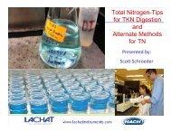Total Nitrogen-Tips for TKN Digestion and Alternate Methods for TN