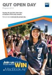 Open Day 2013 program - QUT