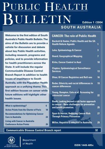 Public Health Bulletin Edition 1, 2004 - SA Health - SA.Gov.au