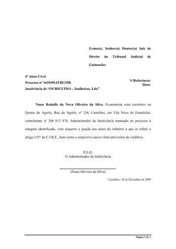 OURIGUIMA - Joalheiros, Lda. - Nuno Oliveira da Silva