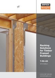 Racking Solutions for Timber Framed Buildings - Simpson Strong-Tie
