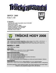 Tršický zpravodaj Srpen 2008 - Tršice