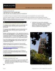 Statement of Financial Proof - The Graduate School - Michigan State ...