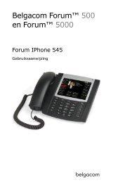 SIP-telefoon Forum IPhone 545 - Help and support - Belgacom