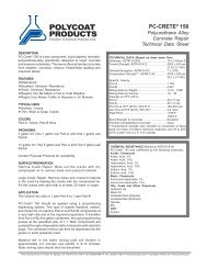 PC-Crete® 150 - Polycoat Products