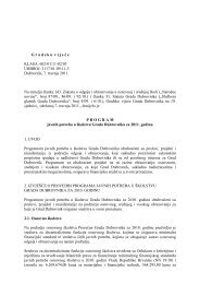 Program javnih potreba u Å¡kolstvu Grada ... - Grad Dubrovnik