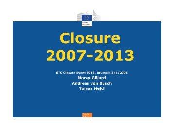 Presentation | Closure 2007- 2013 | European Commission - Interact