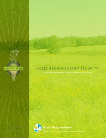 home grown energy security - Western Organization of Resource ...