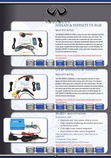 NISSAN & INFINITI Fx RGB GVIF-INFINITI & NISSAN - Davicom ...