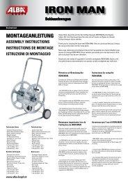 Instructions de montage IRON MAN - Alba Krapf AG