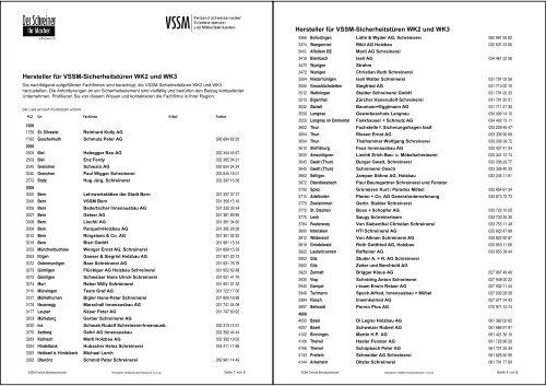 Hersteller Sicherheitstã¼ren Liste Pdf Vssm