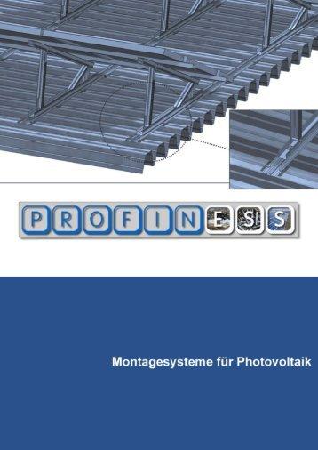 Montagesysteme für Photovoltai - Profiness Schrauben