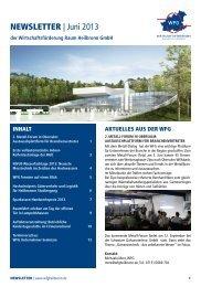NEWSLETTER | Juni 2013 - Wirtschaftsförderung Raum Heilbronn ...